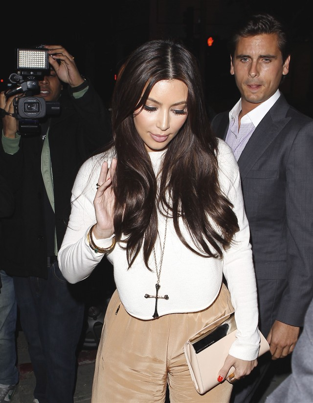 Kim Kardashian & Scott Disick Enjoy Dinner At STK