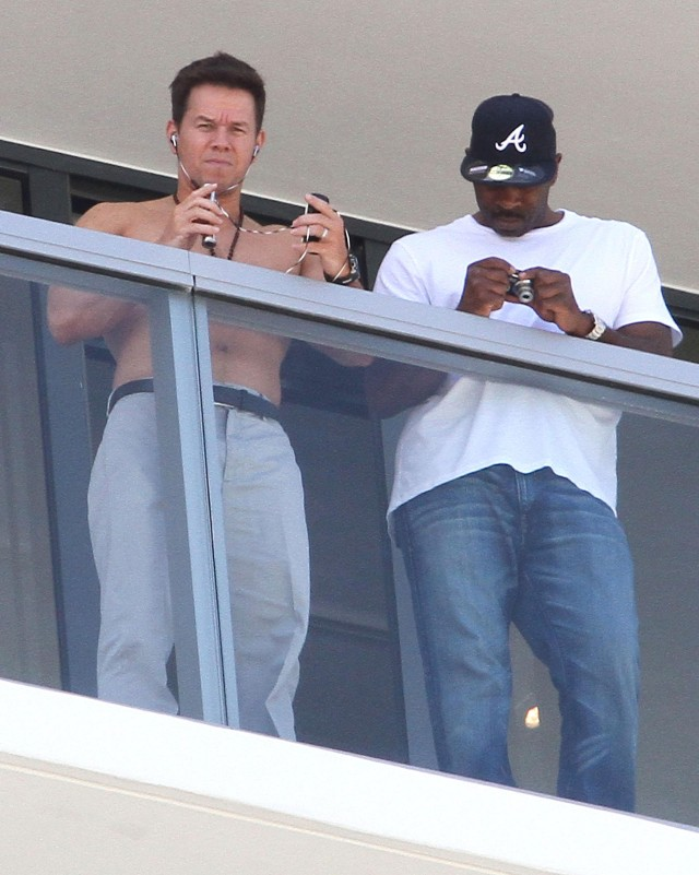 Mark Wahlberg Hangs Out Shirtless