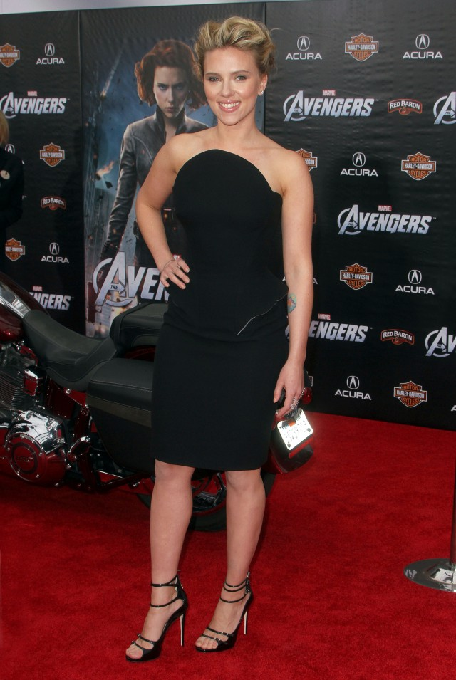 "Scarlett Johansson at ""Marvel's The Avengers""  Premiere in Hollywood"