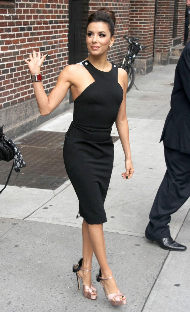 Ever Elegant Eva Longoria Flawless At David Letterman