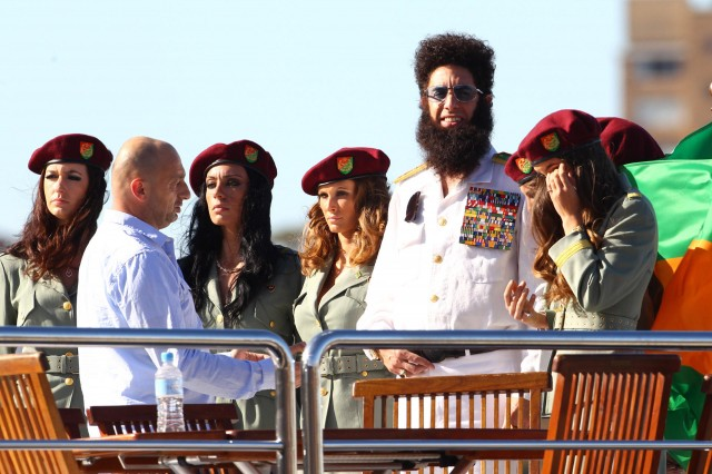 """The Dictator"" Sacha Baron Cohen Arrives in Sydney"