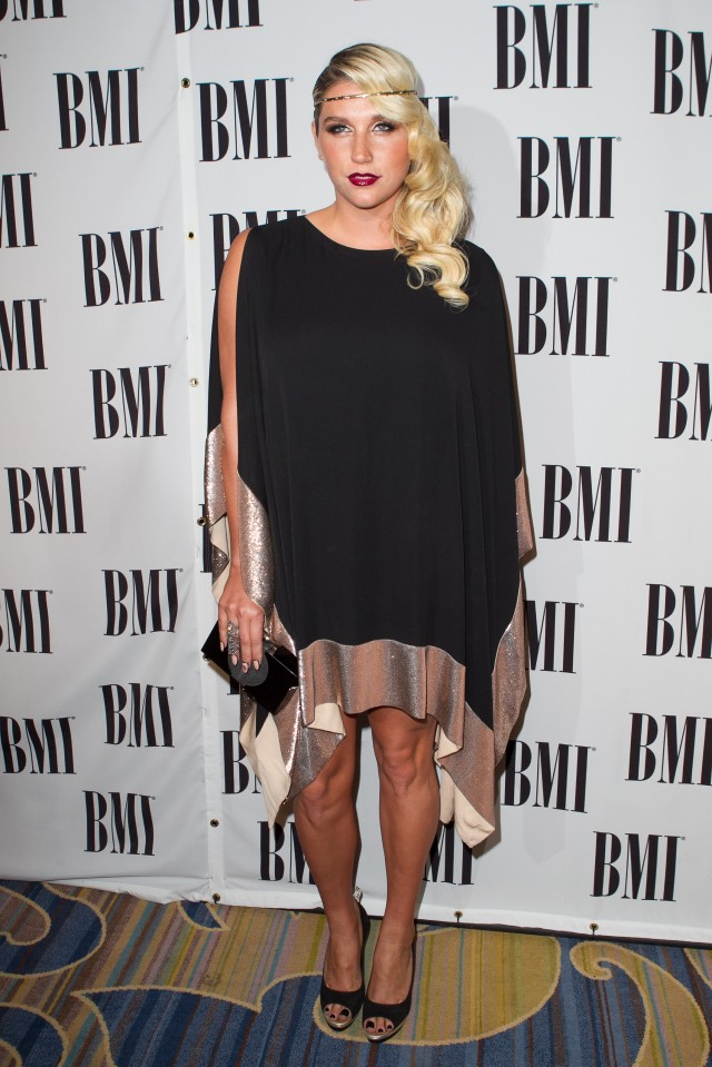 Singer Kesha arrives at the 60th annual BMI Pop Awards
