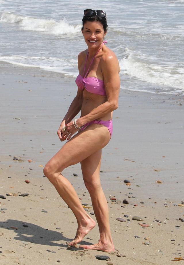 Janice Dickinson Showing Off Her Bikini Body In Malibu