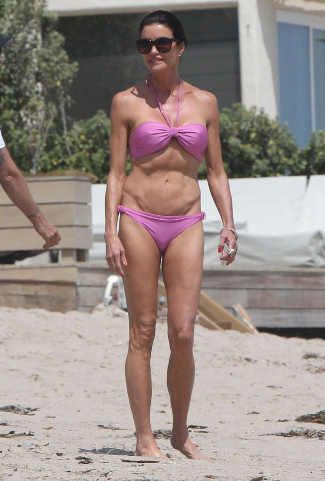 Janice Dickinson Showing Off Her Bikini Body In Malibu