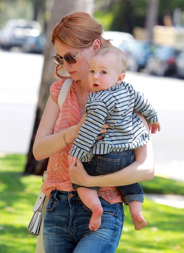 Red-Headed January Jones Takes Xander to the Doctor