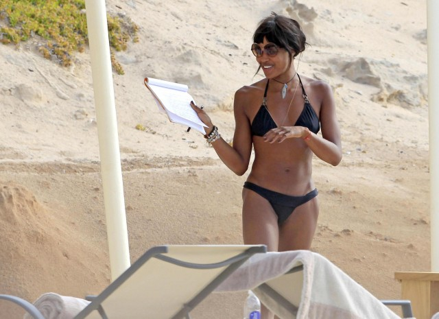Naomi Campbell Shows Off Her Body in Ibiza