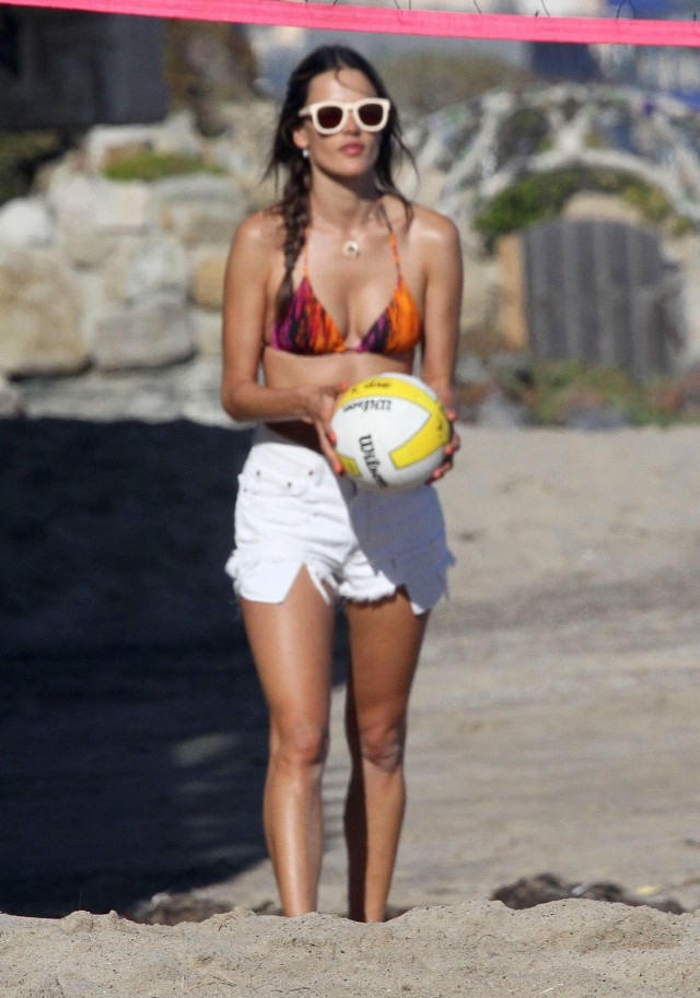 Alessandra Ambrosio And Family Enjoying A Day On The Beach