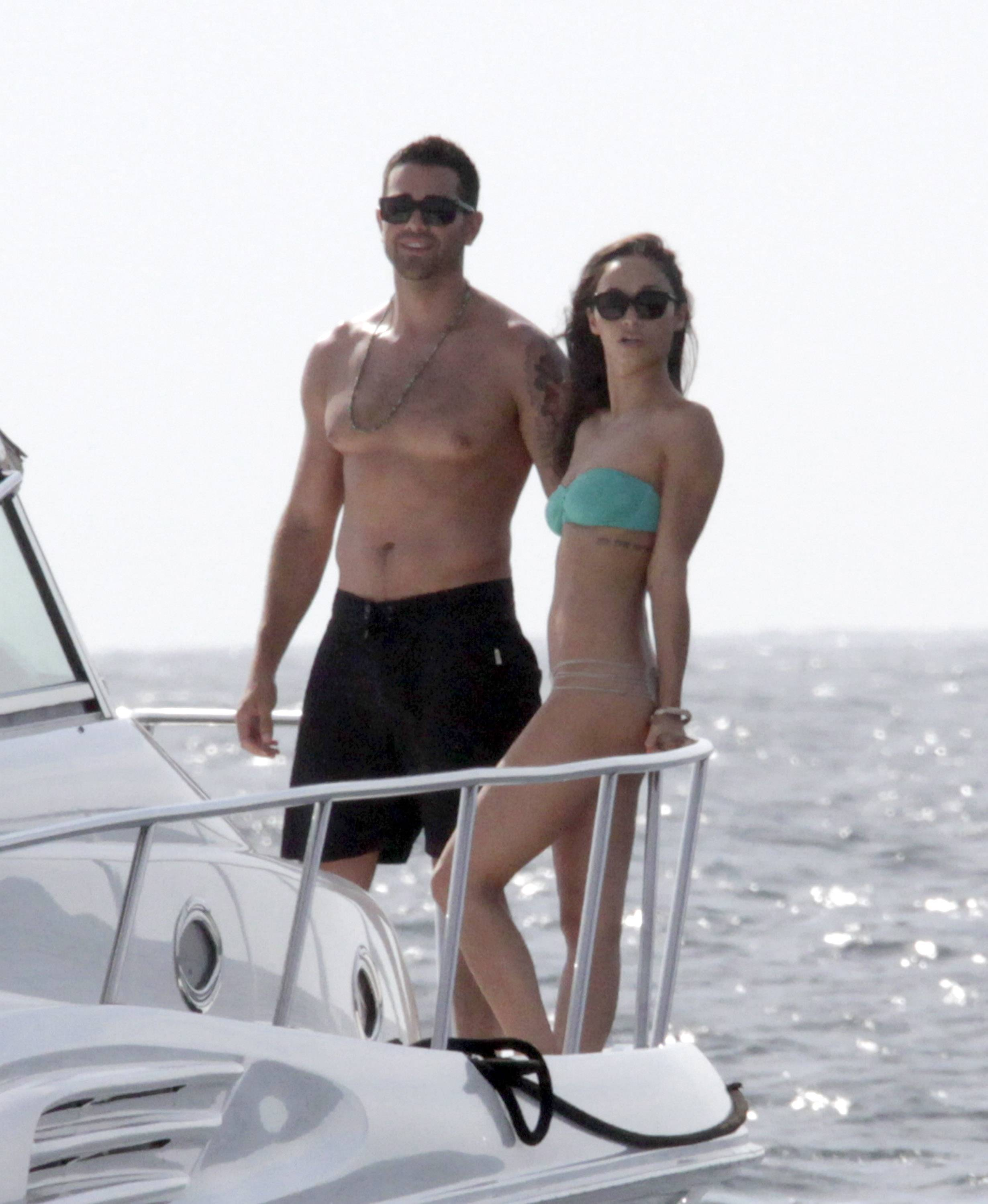 Dallas Actor Jesse Metcalfe And Fiance Actress Cara Santana Relax On A Boat During Vacation In Cabo San Lucas Mexico