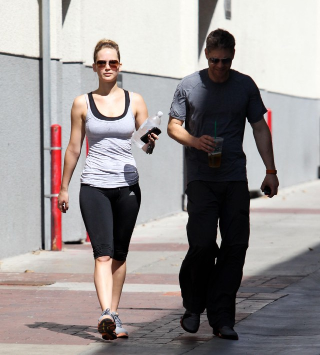 Sweaty Jennifer Lawrence Gets In A Good Workout