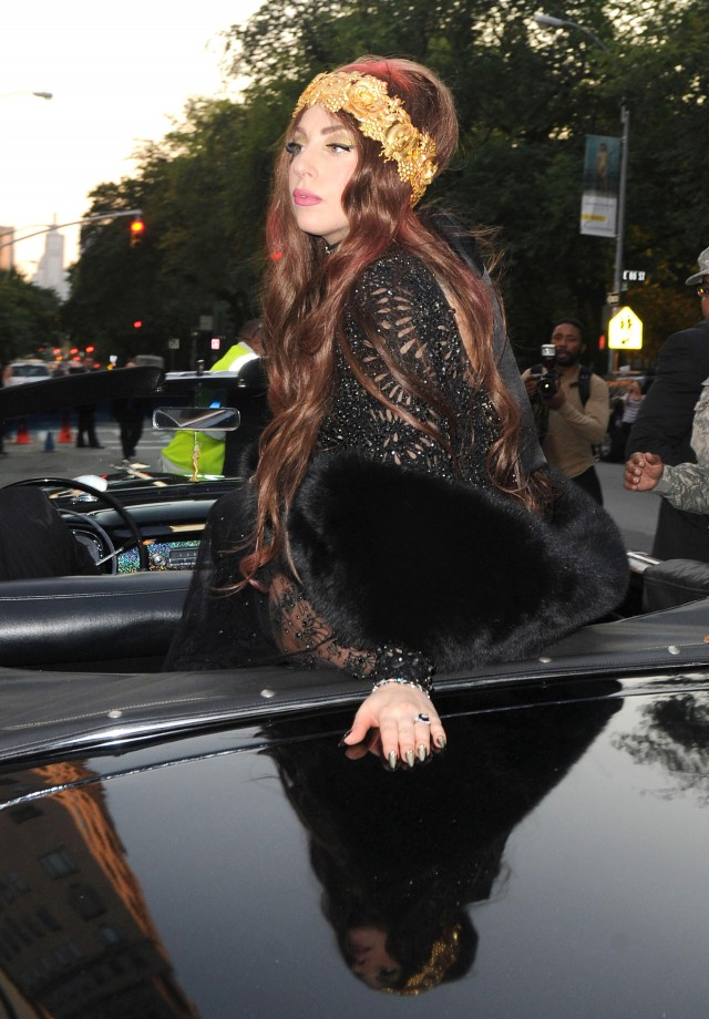 Lady Gaga Arriving In Style To Her 'Fame' Party