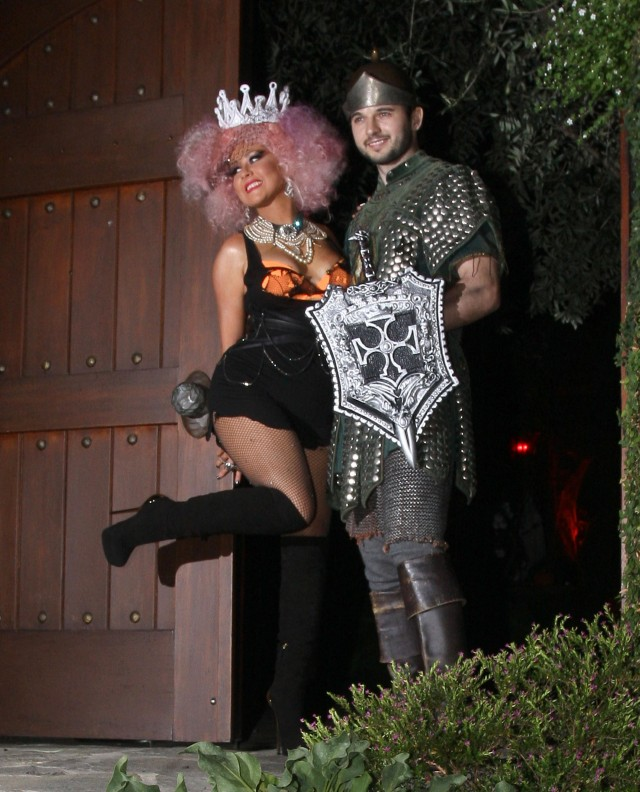 Christina Aguilera & Matthew Rutler Dress Up For Halloween