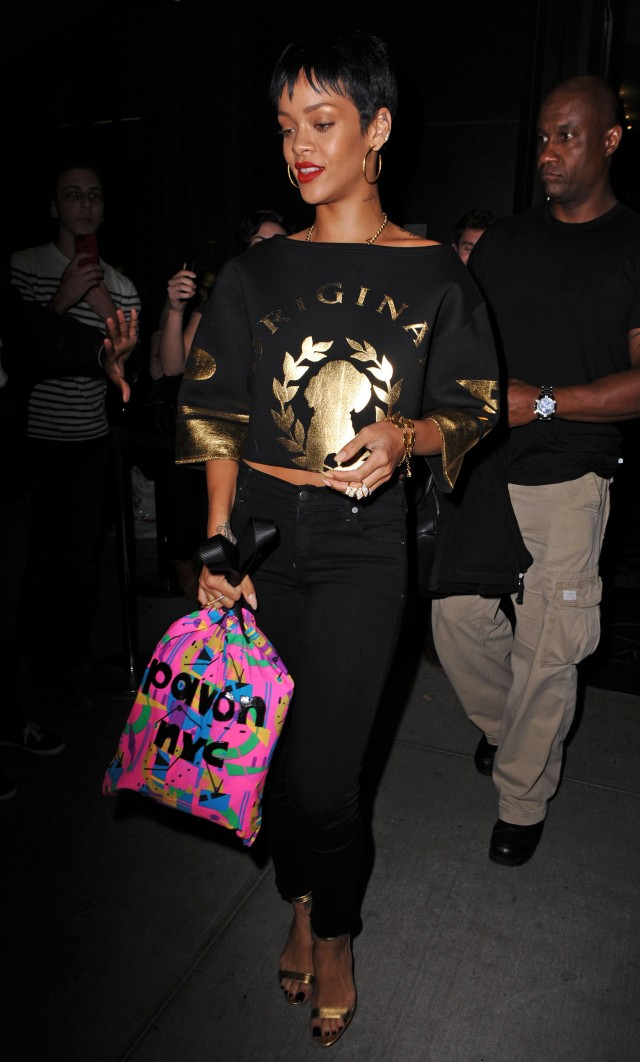 Rihanna Goes For Gold