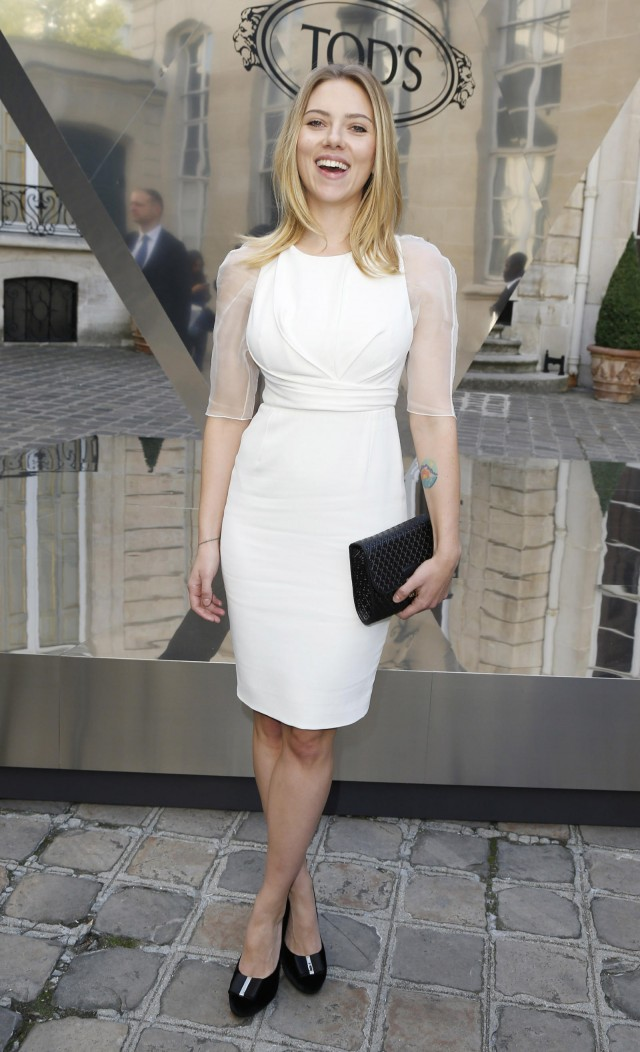 Scarlett Johansson Attends Tod's Party