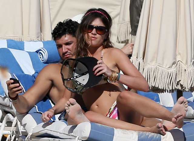 Brian Mazza Enjoys the Beach with His Lovely Lady