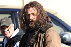 "Hugh Jackman Gets Scruffy For ""The Wolverine"""