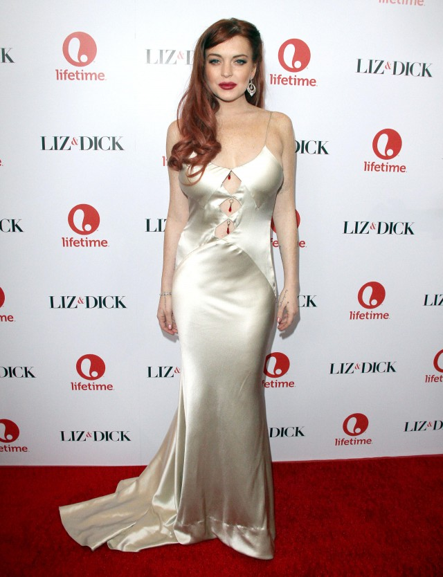 Lindsay Lohan at Liz & Dick Premiere in Beverly Hills