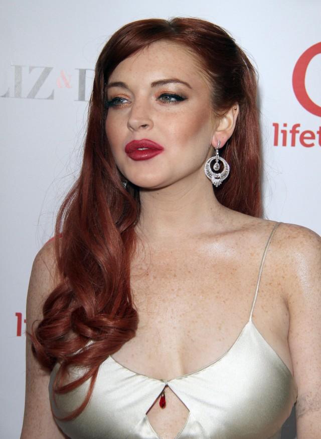 Lindsay Lohan at Liz & Dick Premiere in Beverly Hills
