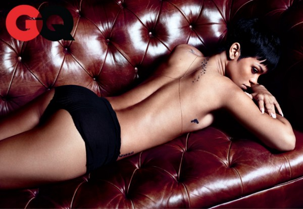 Rihanna in December 2012 issue of GQ
