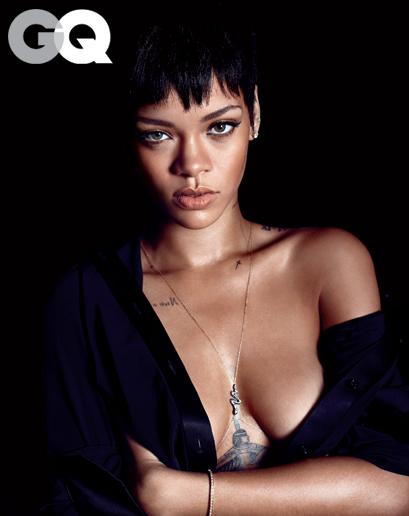 Rihanna in December 2012 issue of GQ