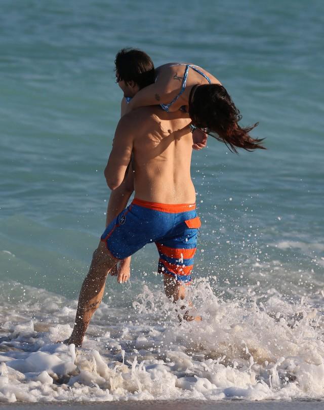 Rumer Willis & Jayson Blair Soak Up Some Miami Sun