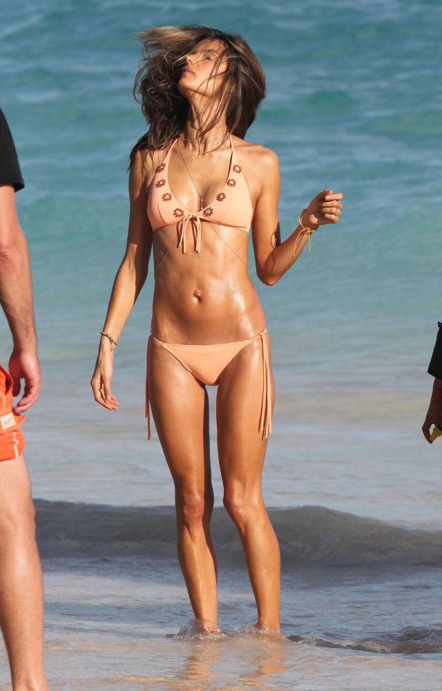 Alessandra Ambrosio Doing A Photo Shoot In St. Barts
