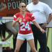 Jennifer & Casper Play In A Charity Football Game