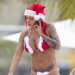 Jodie Marsh Gets Into The Festive Spirit On The Beach In Barbados