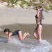 Stephanie Seymour And Kids Enjoying A Day On The Beach
