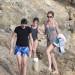 Stephanie Seymour And Kids Enjoying A Day On The Beach