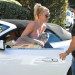 Britney Spears Stops By A Friends House In Beverly Hills