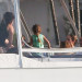 Jennifer Lopez And Family Relaxing On A Yacht In Miami