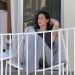 Jennifer Lawrence Relaxing On Her Balcony In Hawaii