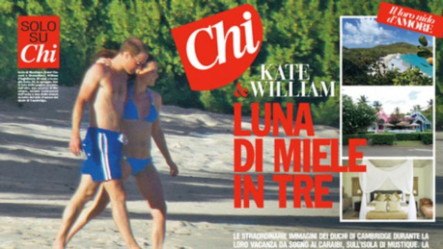 Kate Middleton Pregnant in a Bikini