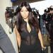 Pregnant Kim Kardashian Departing On A Flight At LAX