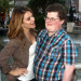Maria Menounos and Hesse Heiman recreating the GoDaddy Ad at The Grove