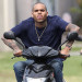 Chris Brown Cruising On A Scooter In Hawaii