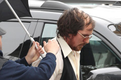 Christian Bale Rocks A Comb Over On Set