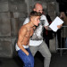 Justin Bieber Returns To His Hotel Shirtless