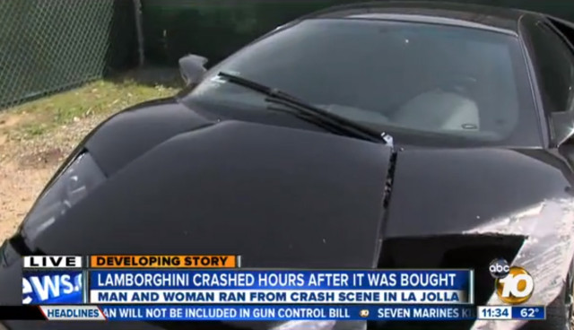 Man Crashes Lamborghini Leaves Car The Blemish