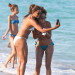Claudia Jordan & A Friend Have A Little Fun On The Beach In Miami