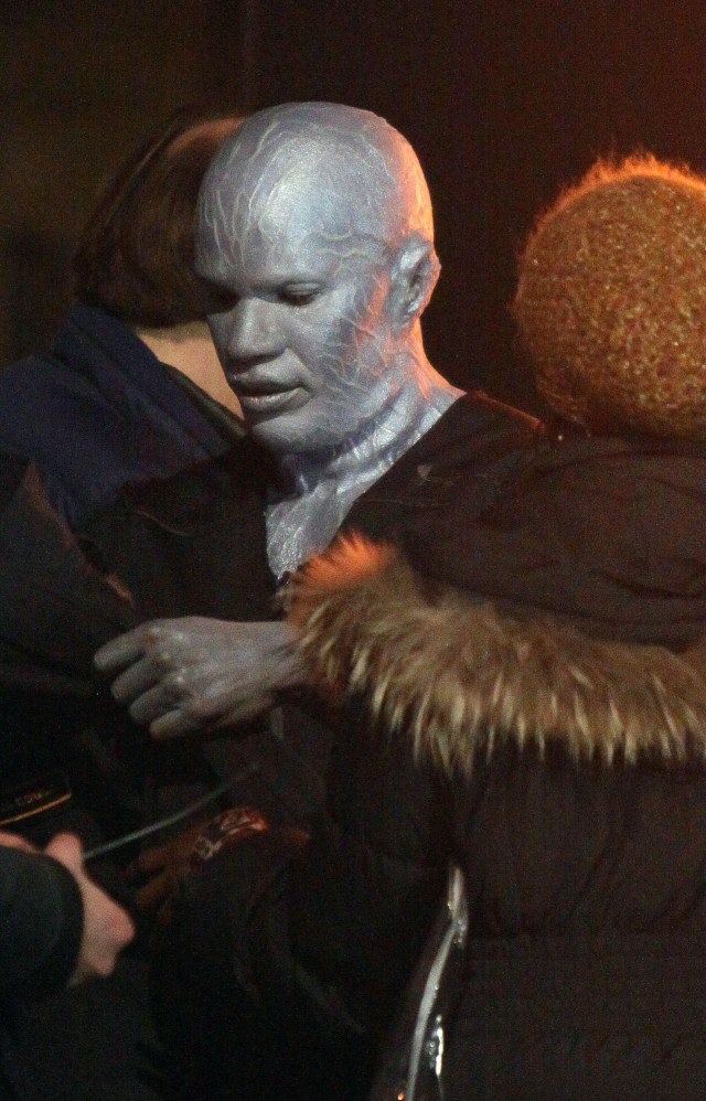 "Jamie Foxx wearing his Electro make up at ""The Amazing ..."