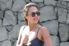 Jessica Alba Showing Off Her Bikini Body In St. Barts
