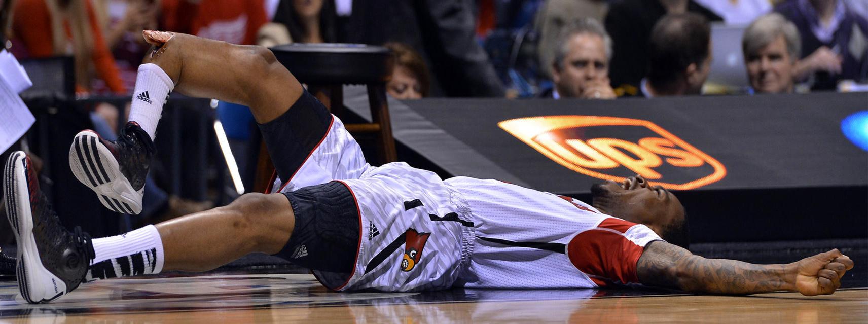 Kevin Ware Suffers Broken Leg During Louisville Vs Duke