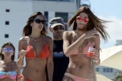 Shannon De Lima Visits the Beach in Miami