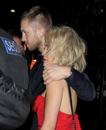 Rita Ora & Calvin Harris Leaving Proud Camden