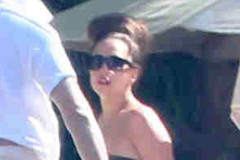 Lady Gaga Hanging Out Poolside In Cabo