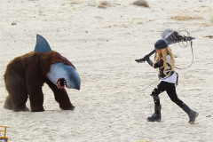 Avril Lavigne Continues Her Strange Music Video Shoot