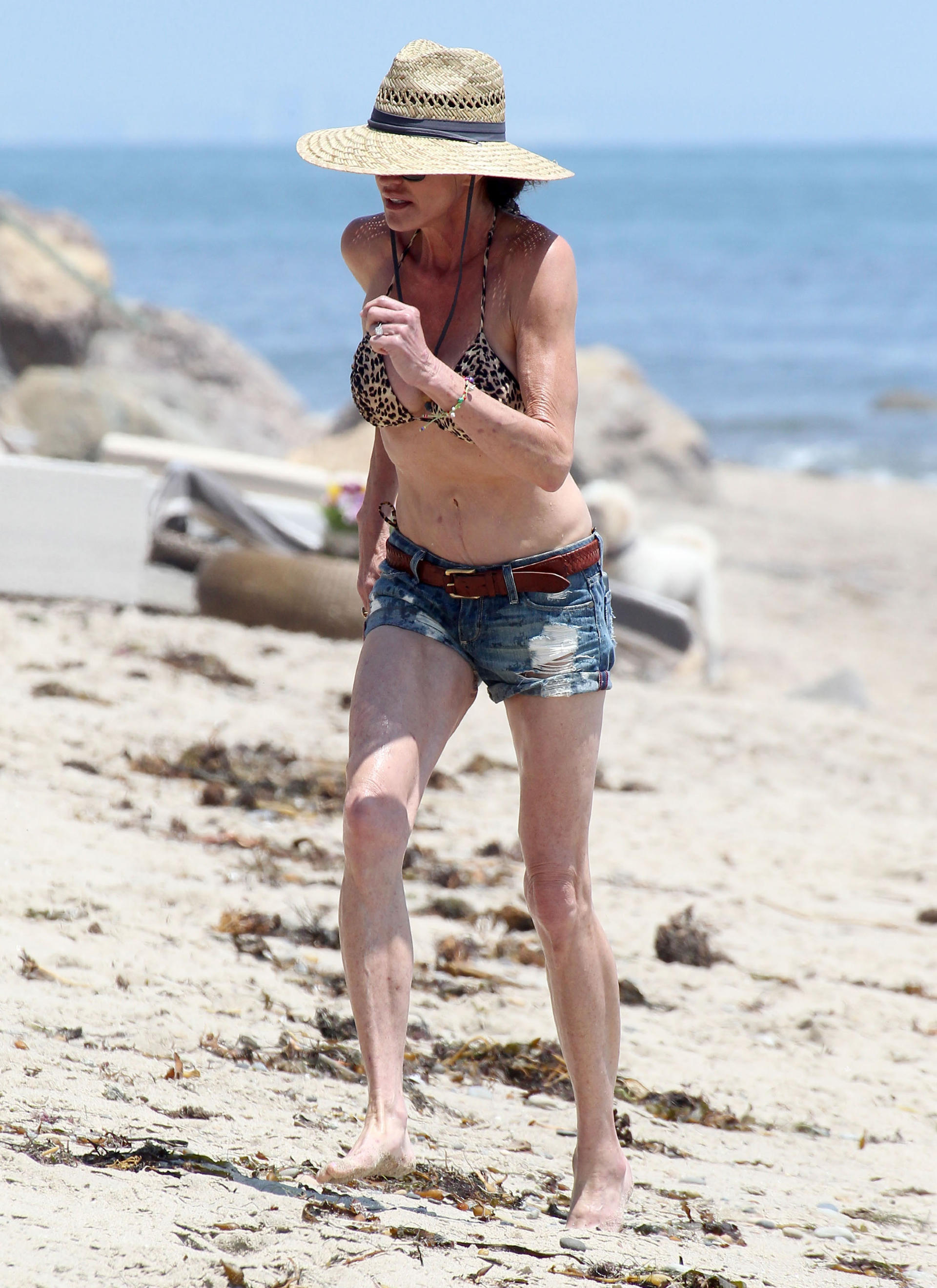 Janice Dickinson Showing Off Her Wrinkles In Malibu