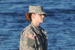 Kristen Stewart On The Set Of 'Camp X-Ray'