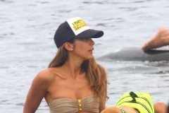 Leilani Dowding Takes Her Dog Paddle Boarding In Malibu